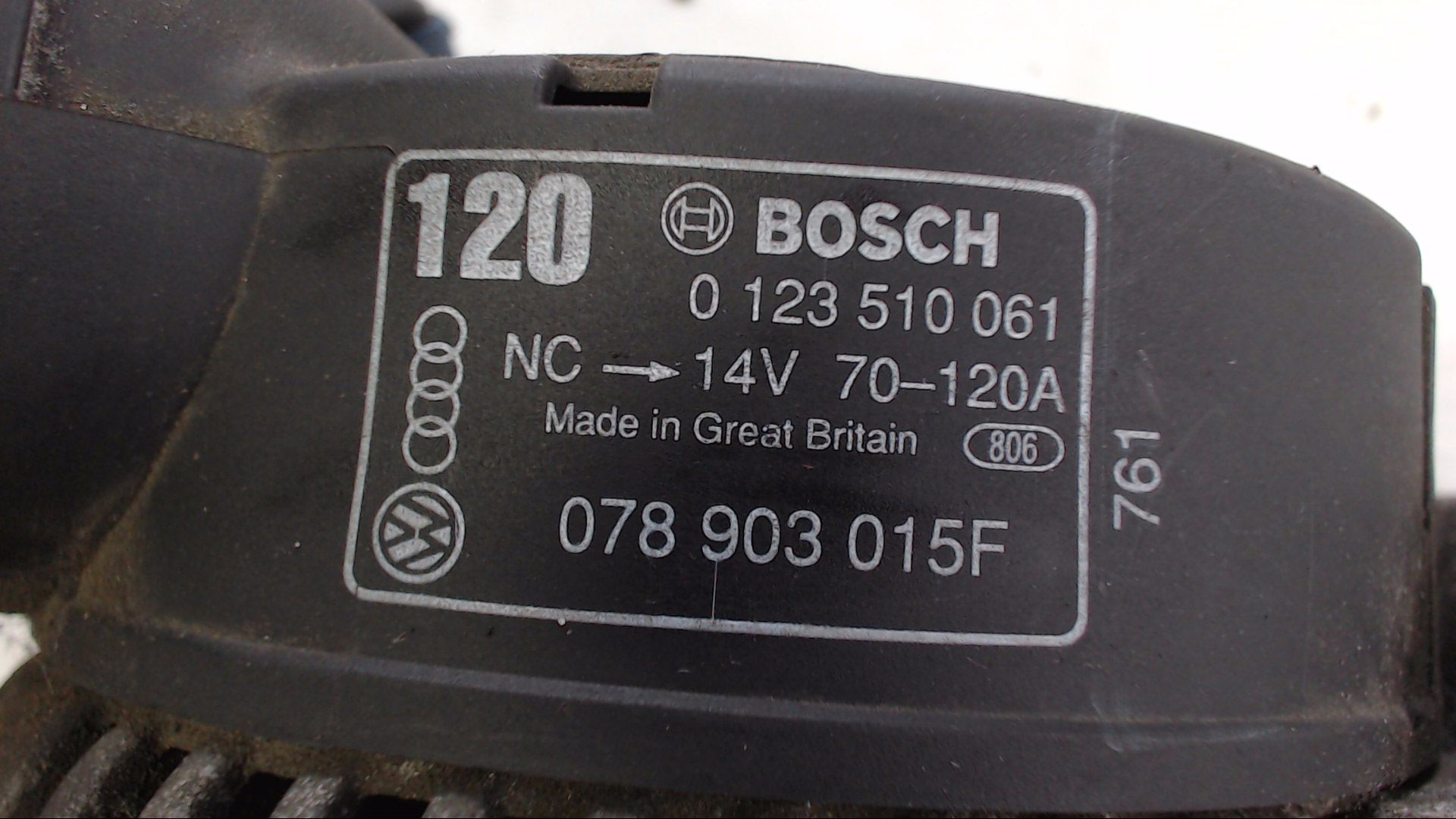 Lichtmaschine AUDI Cabriolet Coupe 100 80 A4 A6 A8 2,3 2,4 2,6 2,8 S4 Orig.Bosch